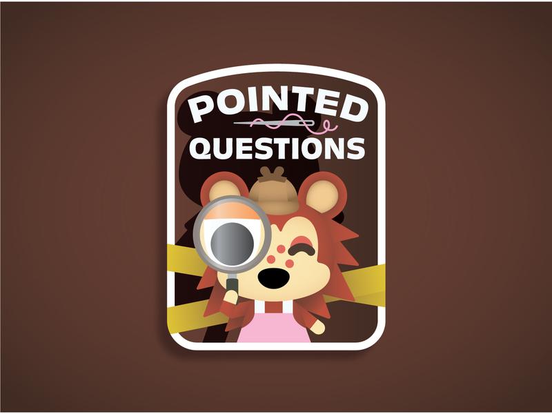 Pointed Questions! murderino sticker design sticker animal crossing