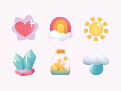 Kawaiicons illustration game design mobile game app design app icon design icon kawaii