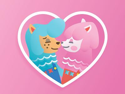 Reese & Cyrus animal crossing sticker illustration
