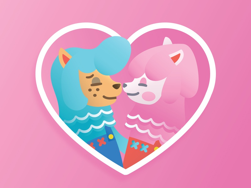 Reese & Cyrus animal crossing sticker illustration