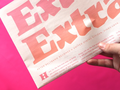 Extra! Extra!  travel love typography newspaper publication design