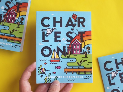 Charleston Travel Guide - Available for Sale!  wanderlust wander illustration marsh rainbow porch house ship travel icon design icon charleston
