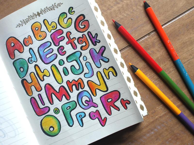 Bubble Rainbow Alphabet By Lauren Beltramo On Dribbble