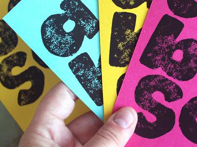 Aye Bee Sea pt. 1 branding typography linoleum block print lettering