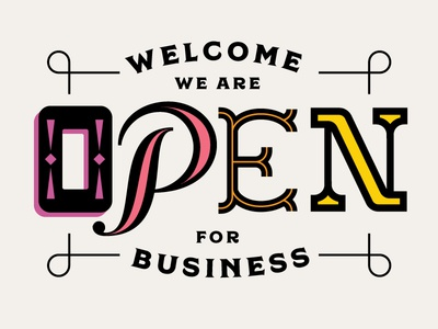 Open For Business personal project self promo regina black custom lettering illustration typography lettering