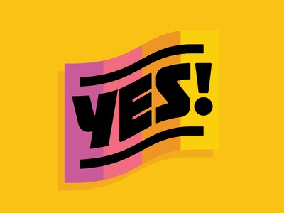 Yes! personal branding typography yes lettering illustration