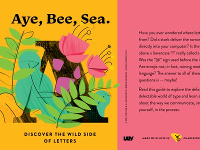 Aye Bee Sea, pt.1 texture forest foliage typography lettering guide guide design lettering illustration