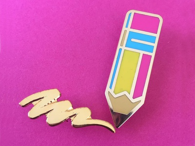 Drawn to You, pt. II enamel pin pin set doodle drawing pencil illustration pin game pin