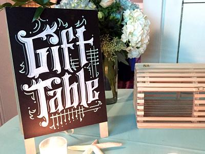 Chalkboard Wedding Signage! type design type chalkboard lettering hand lettering lettering wedding signage wedding