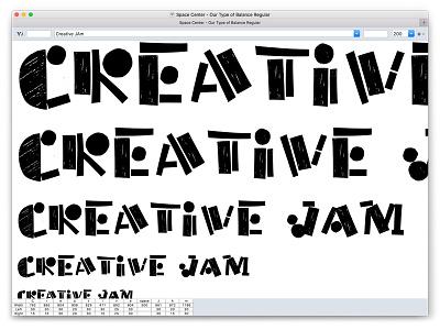 Our Type of Balance typography illustration type design type creative jam adobe