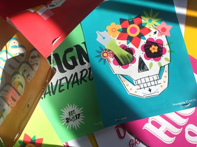 Design Graveyard, pt. 2 type design type flowers design pen skull halloween illustration