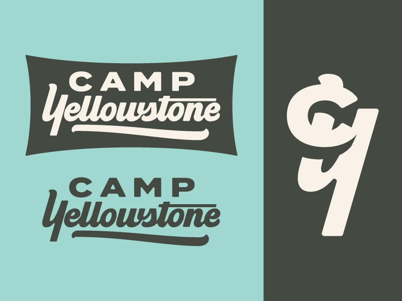 Camp Yellowstone pt. I monogram script lettering script lettering yellowstone national park yellowstone national park camp