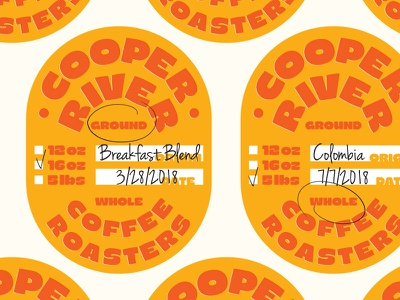 Cooper River Coffee Roasters charleston coffee label coffee future fonts goiters