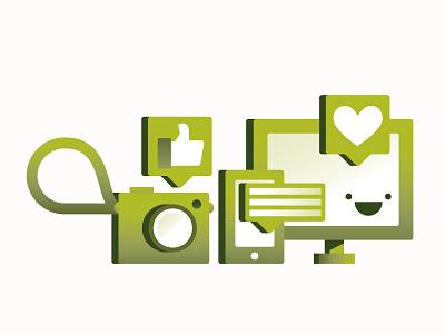 Get Social computer camera social media icon design icon illustration