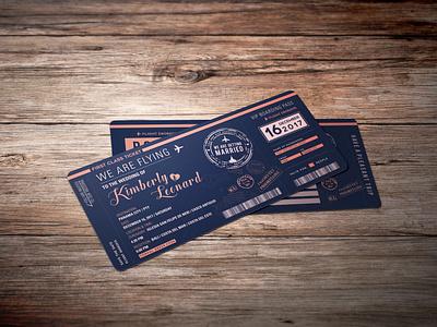 Wedding invitation. boardingpass wedding invitations graphicdesign