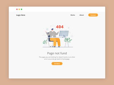 Day 008: 404 Page ux illustration web dailyui ui design