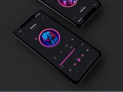 Day 009: Music Player illustration ux ui app dailyui