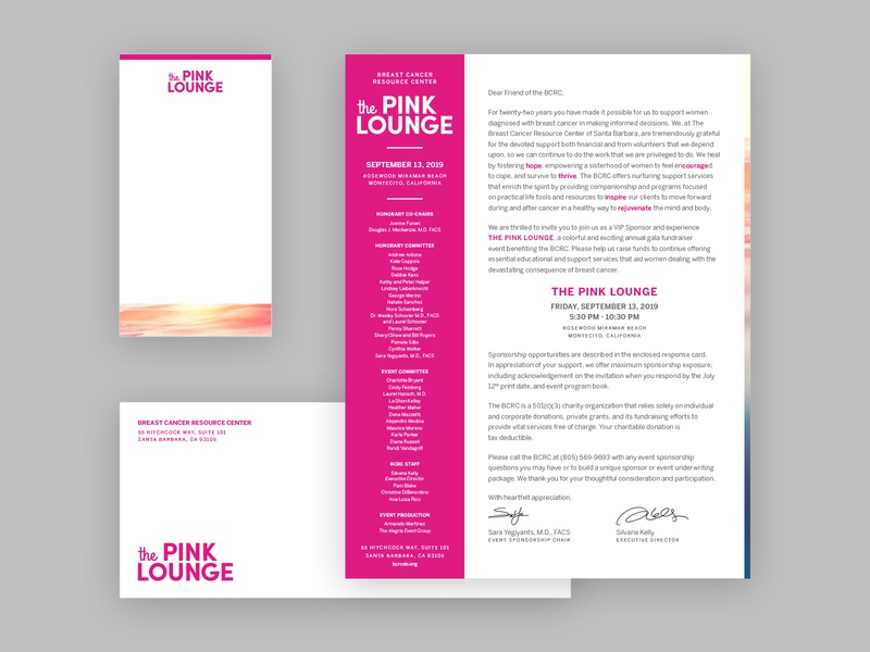 The Pink Lounge Sponsor Suite, pt 1 branding typography design events brand identity logo breast cancer