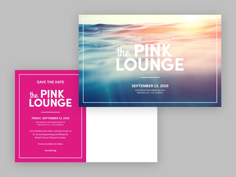 The Pink Lounge Sponsor Suite, pt 3 branding typography breast cancer logo brand identity events design
