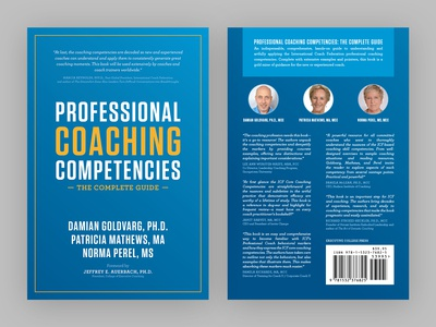 """""""Professional Coaching Competencies"""" book cover design"""