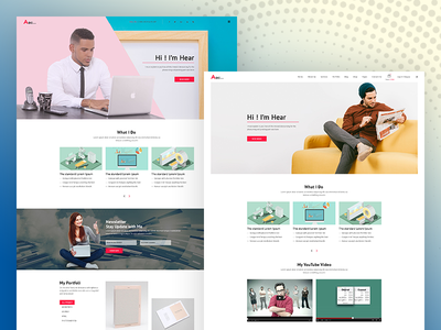 Personal Portfolio Homepage Design