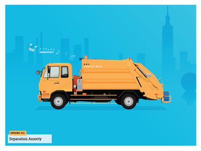 99 Percent Invisible - Taipei Dump Truck illustration 99pi taipei yellow truck