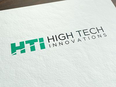 High Tech Innovations Logo tech innovations green logo startup brand