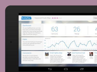 Buddypay - Android Tablet Application ux ui truckers tablet android brand buddtpay