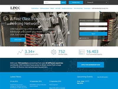 Linx.net Website UX & UI blue icons ui ux design website