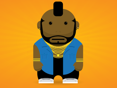 B. A. Baracus (AKA Mr T) animation android character a team illustration