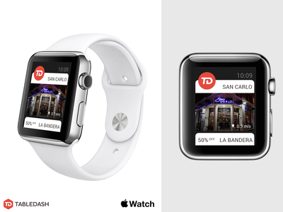 Tabledash Apple Watch watch ui ux apple meals bookings table red brand startup