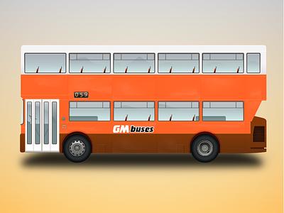 GM Bus Illustration transport manchester orange illustration bus
