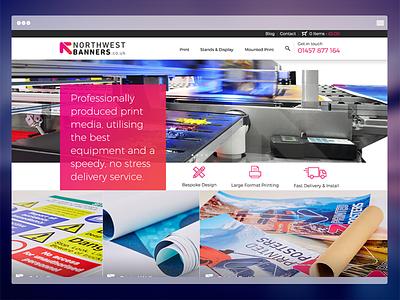 NorthWest Banners Website manchester print banners ux ui website