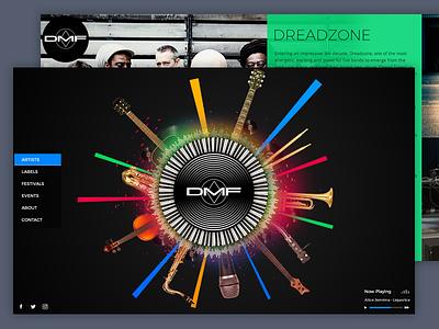 DMF Music - Music Label Website music design ui ux website