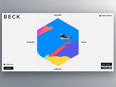 Beck.Com hexagon album ui ux artist music beck