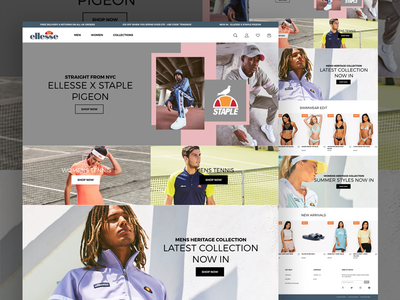 Ellesse Web Store shopify fashion heritage sports ecommerce design ui ux