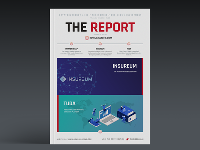 The Report - Cryptocurrency News publication design ico investment cryptocurrency crypto newsletter
