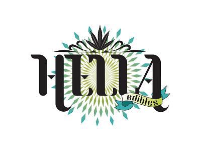 Hella Edibles Logo vector logo branding design