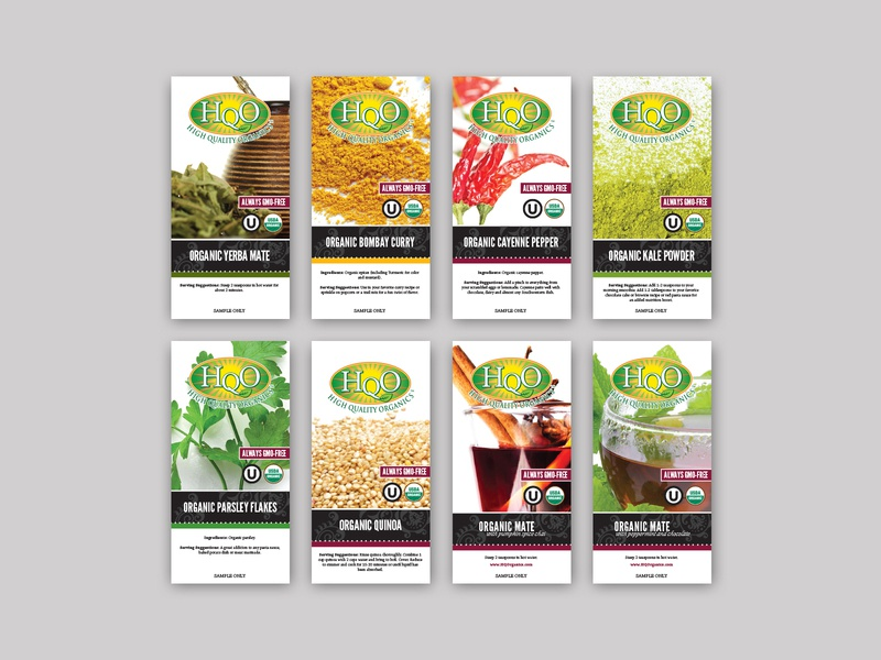 HQO Food Service Labels packaging design packaging branding design