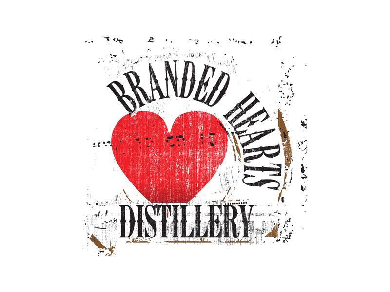 Logo for Branded Hearts Distillery illustration vector logo branding design