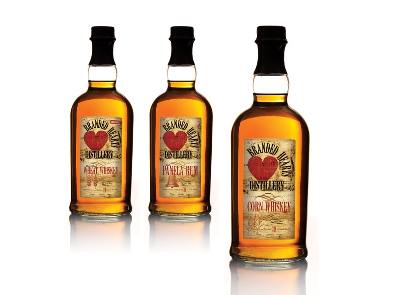Branded Hearts Distillery Identity and Packaging