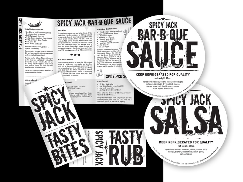 Spicy Jack logo design design company marketing collateral illustration logo branding design