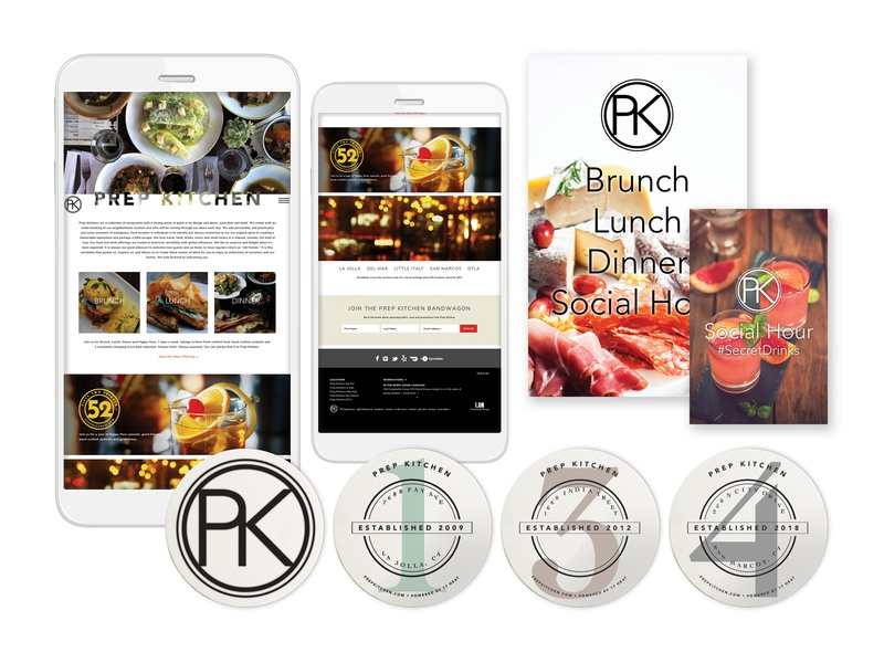 Prep Kitchen Website Concept and Collateral identity design vector advertising packaging design company web design uxdesign ux ui design ui marketing collateral branding design