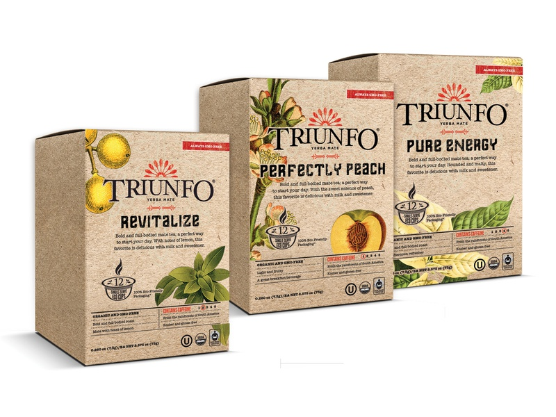 Triunfo Yerba Mate Packaging design company packaging design illustration logo branding design