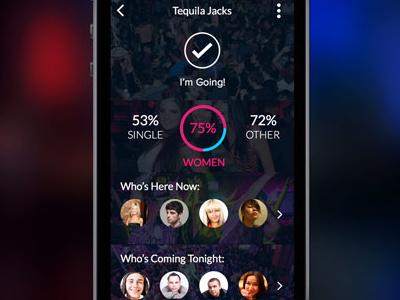 Barseen Revised black monotone blue pink nightlife app application ios iphone network social barseen