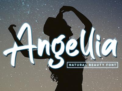 Angellia - Beauty Font popular new handwritten illustration vector lettering design branding font design logo type font typography