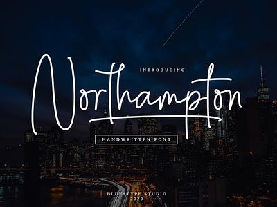 Northampton Font font design logo design branding vector illustration lettering typography type font