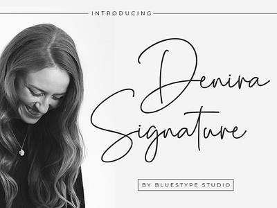 Denira Signature Font branding illustration handwritten font design lettering design typography type font