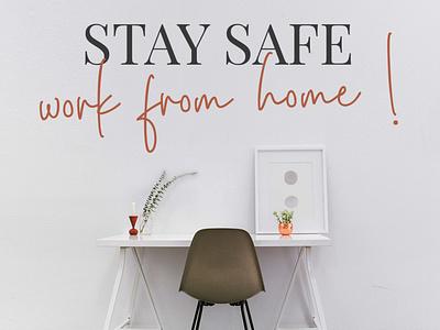 STAY SAFE ! popular app new ui logo design branding vector illustration typography