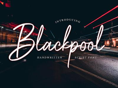 Blackpool - Handwritten Font handwritten illustration vector font design font lettering typography type logo design branding